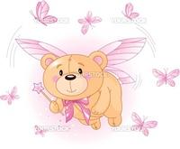 Very cute Teddy Bear with Magic wand flying