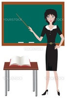 Vector illustration of a teacher
