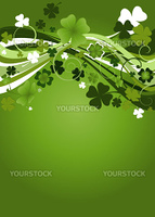 design for St. Patrick's Day with four and three leaf clovers