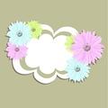 タイトル:Abstract background with pastel flowers. vector illustration