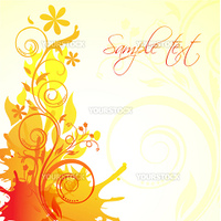 illustration of abstract floral background on white background