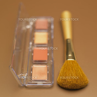 eye shadows with brush