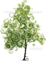 Funny tree made from curls