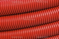 Close-up of red plastic pipes