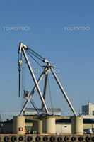 Stationary heavy-lift crane at a harbour.