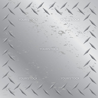A worn diamond plate frame texture that tiles seamlessly in any direction.