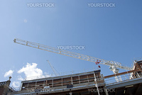 A White Heavy Lift Crane on a construction site in a english city