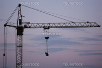 Tower crane with steel hook building metal construction