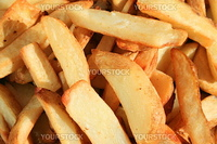 Close up of the tasty french fries.