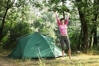 Girl,in camping