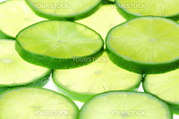 lime slices macro close up