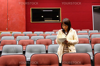 Asian student in lecture hall