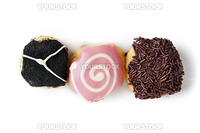 Baby donuts on white background