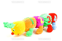 kids caterpillar toy with 1234 (focus on the 4)