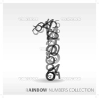 Number one made from various numbers - check my portfolio for other numbers