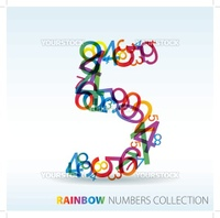 Number five made from colorful numbers -  check my portfolio for other numbers