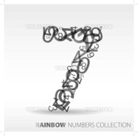 Number seven made from various numbers - check my portfolio for other numbers