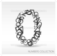 Number zero made from various numbers - check my portfolio for other numbers
