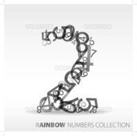 Number two made from various numbers - check my portfolio for other numbers