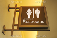 Retro Designed Women & Mens Bathroom Sign