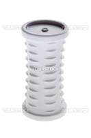 object on white - woman accessory hair rollers