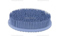 Rubber bath sponge on a white background