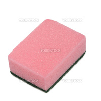 Sponge for washing. It is isolated on a white background.