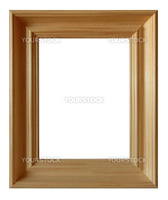 Wood picture frame on a white background