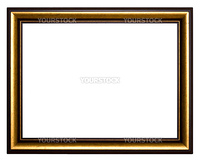 Frame for painting on a white background.