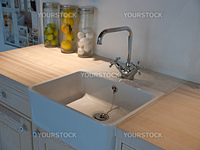 Details of modern classical design trendy  kitchen sink with water tap faucet