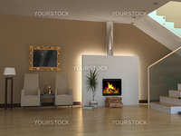 modern interior design (3d rendering)