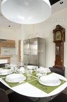 dinning room with old pendulum clock