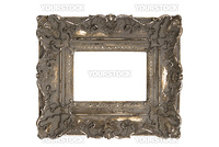Old Picture Frame, isolated on white