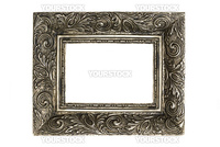 Ornate picture frame, isolated on white