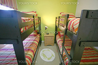 A Bunk Bedroom, Interior Shot of a Home