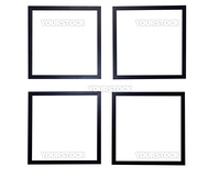 Four blank picture frames isolated on white background with clipping path.