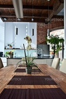 Wooden Dining Table in a modern Home