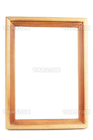 Blank wooden frame isolated over white