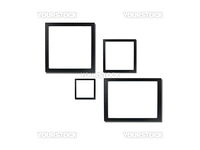 Photo frames isolated against a white background