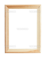 Empty wooden frame isolated over white