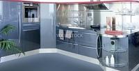gray silver kitchen modern interior design house decoration