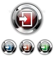 Enter icon, button. Realistic vector illustration.