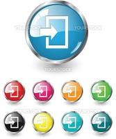 Enter icon, button, multicolored vector set
