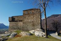 UNESCO World Heritage: Sasso Corbaro castle in Bellinzona  (Switzerland)