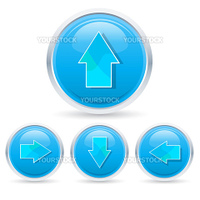 illustration of arrow buttons on white background
