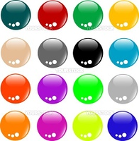 Empty Colored button set of different form web glossy icon