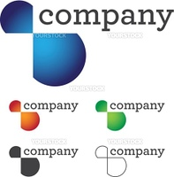 Beautiful and modern corporate logo design with variations for your business