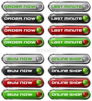 Four Web buttons - order now, last minute, buy now, online shop