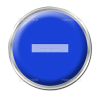 a round blue button with a symbol minus