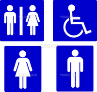 set of restroom symbols